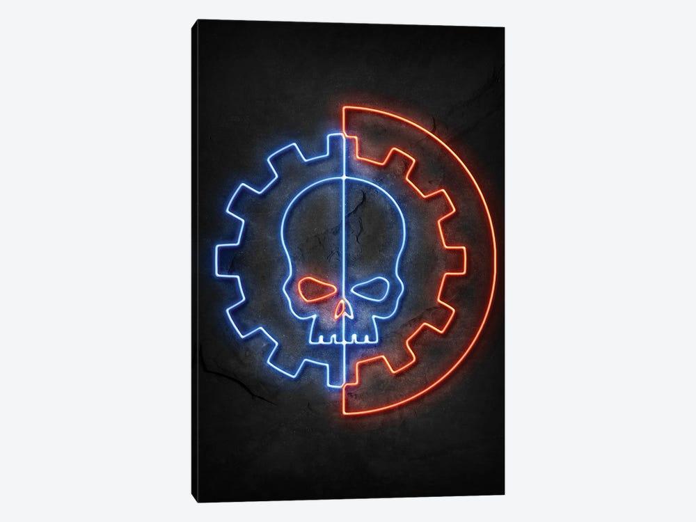 Skull Neon by Durro Art 1-piece Canvas Art Print