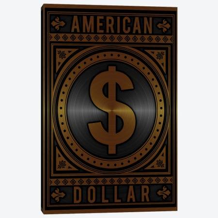 American Dollar Golden Canvas Print #DUR787} by Durro Art Art Print