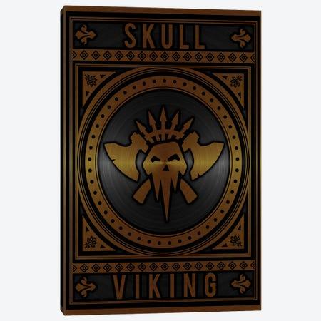 Skull Viking Golden Canvas Print #DUR791} by Durro Art Canvas Print
