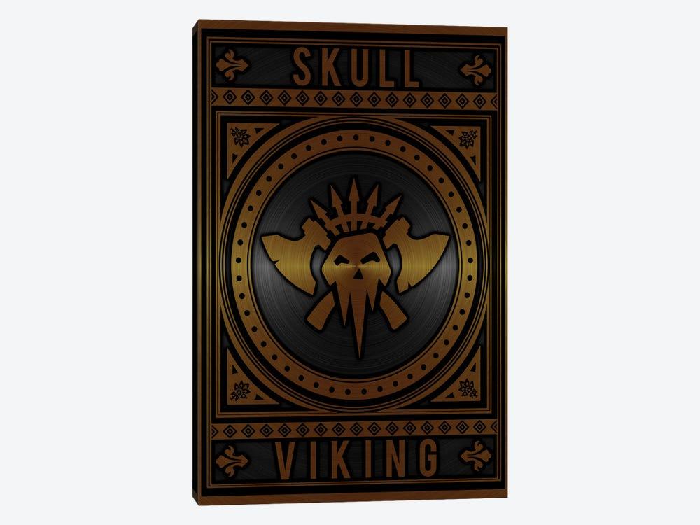 Skull Viking Golden by Durro Art 1-piece Art Print