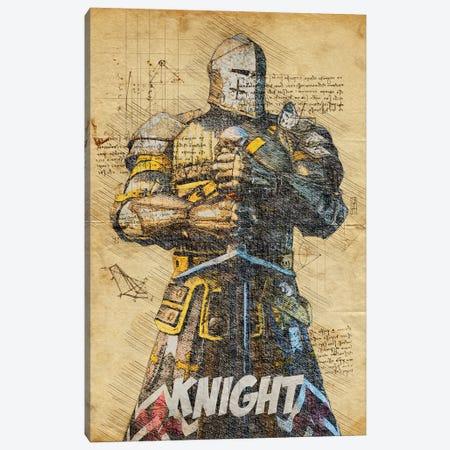 Knight Vintage Canvas Print #DUR798} by Durro Art Canvas Art Print