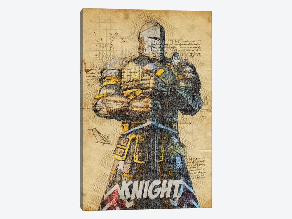 Knight Vintage by Durro Art 1-piece Canvas Art