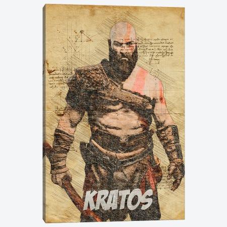 Kratos Vintage Canvas Print #DUR799} by Durro Art Art Print