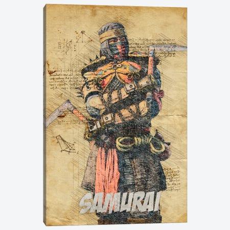 Samurai Vintage Canvas Print #DUR801} by Durro Art Canvas Print