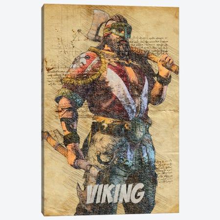 Viking Vintage Canvas Print #DUR804} by Durro Art Canvas Art