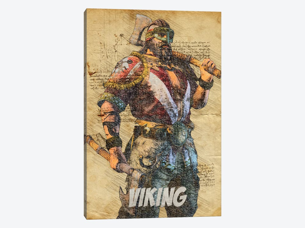 Viking Vintage by Durro Art 1-piece Canvas Print
