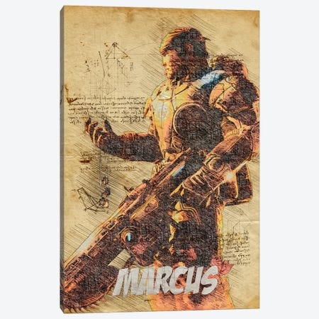 Marcus Vintage Canvas Print #DUR805} by Durro Art Canvas Artwork
