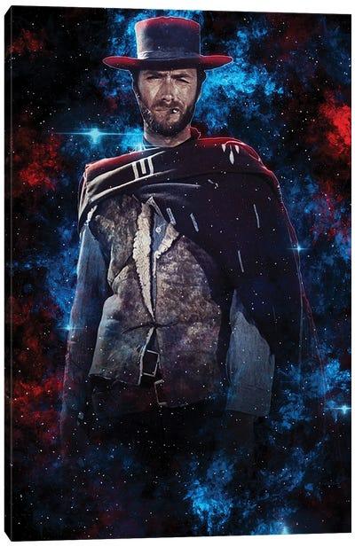 Clint Eastwood Nebula Canvas Art Print