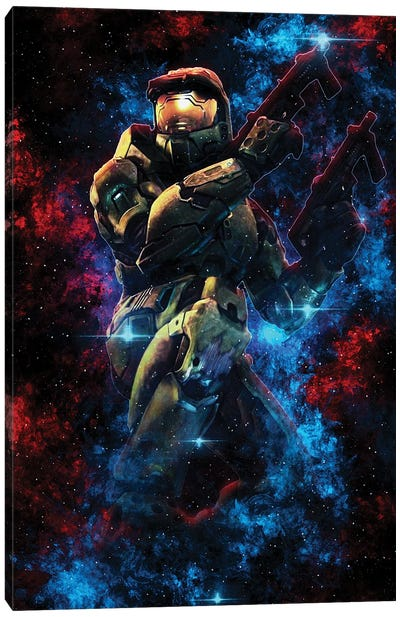 Master Chief Nebula Canvas Art Print