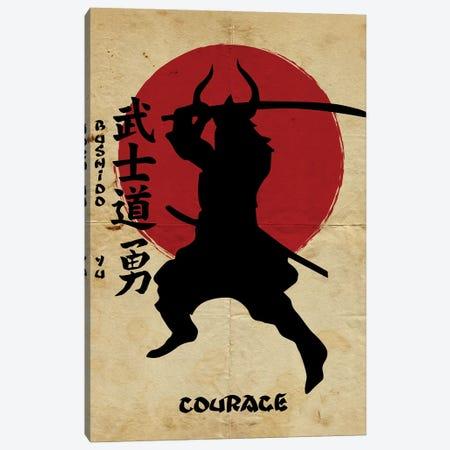 Bushido Courage Canvas Print #DUR832} by Durro Art Canvas Artwork
