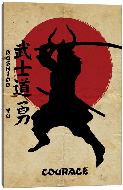 Bushido Courage Canvas Art Print