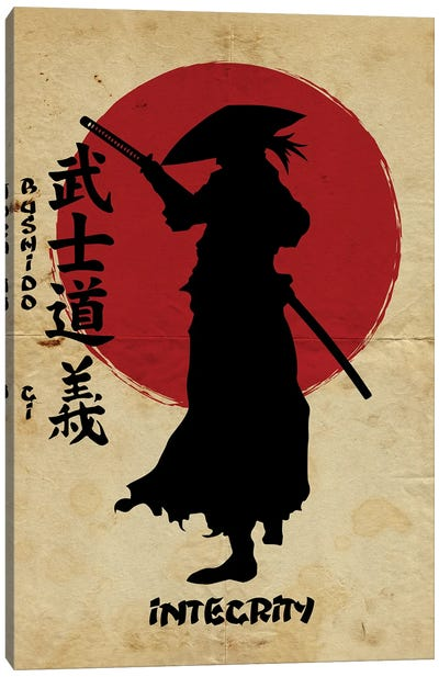 Bushido Integrity Canvas Art Print
