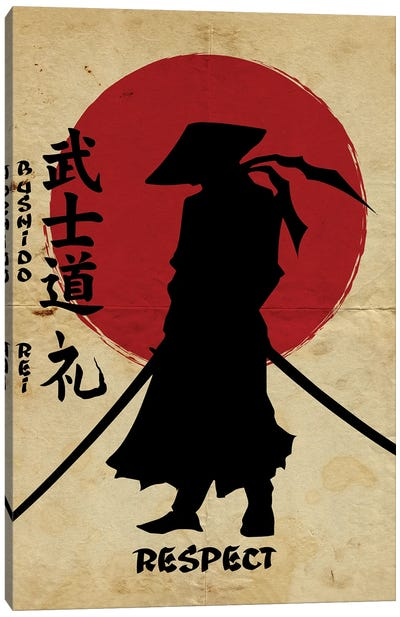 Bushido Respect Canvas Art Print