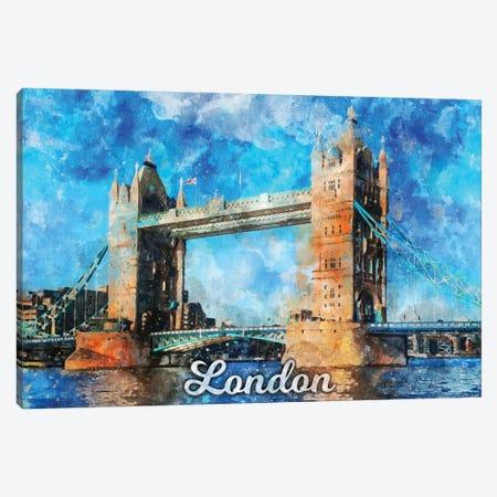 London Canvas Print #DUR839} by Durro Art Canvas Artwork