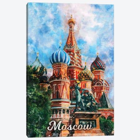 Moscow Canvas Print #DUR840} by Durro Art Canvas Art Print