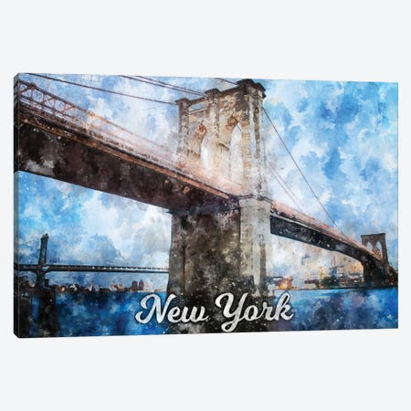 New York Canvas Print #DUR842} by Durro Art Canvas Print