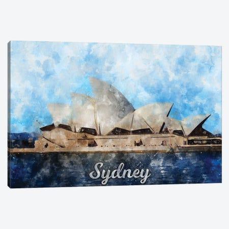Sydney Canvas Print #DUR849} by Durro Art Art Print