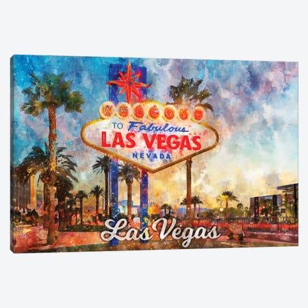 Las Vegas Canvas Print #DUR852} by Durro Art Canvas Art