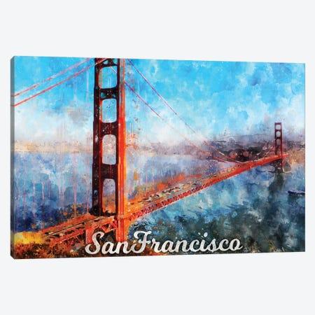San Francisco Canvas Print #DUR853} by Durro Art Canvas Art