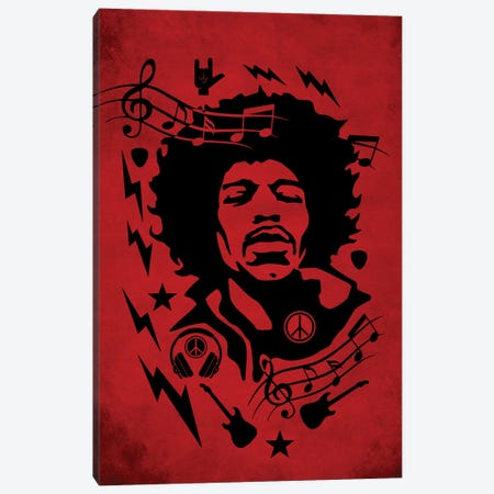 Hendrix Red Canvas Print #DUR860} by Durro Art Canvas Print