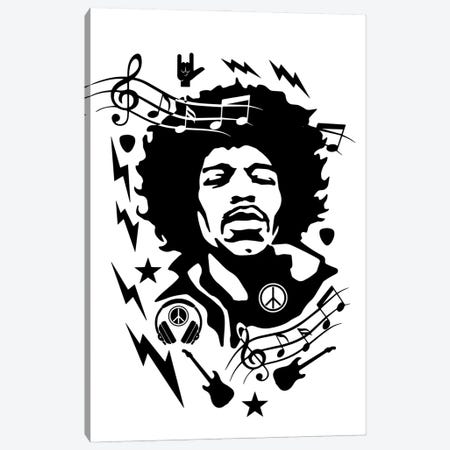 Hendrix Canvas Print #DUR862} by Durro Art Art Print