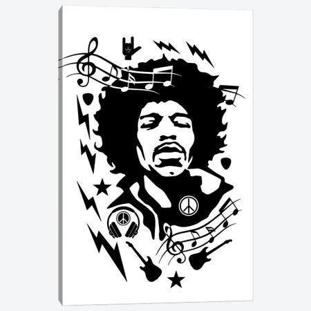 Hendrix Canvas Print #DUR862} by Durro Art Art Print
