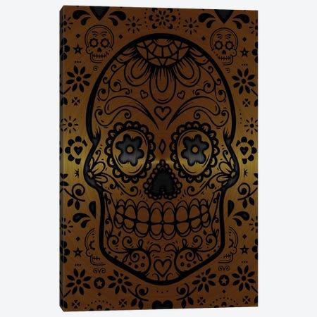 Gold Sugar Skull IV Canvas Print #DUR865} by Durro Art Canvas Artwork