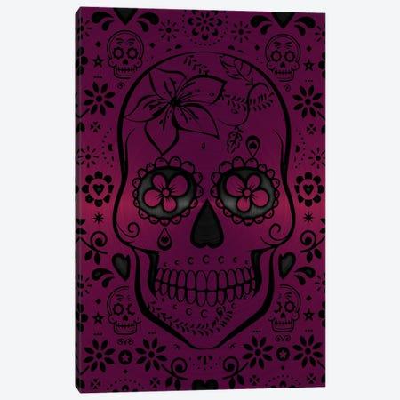 Gold Sugar Skull II Pink Canvas Print #DUR868} by Durro Art Canvas Art Print