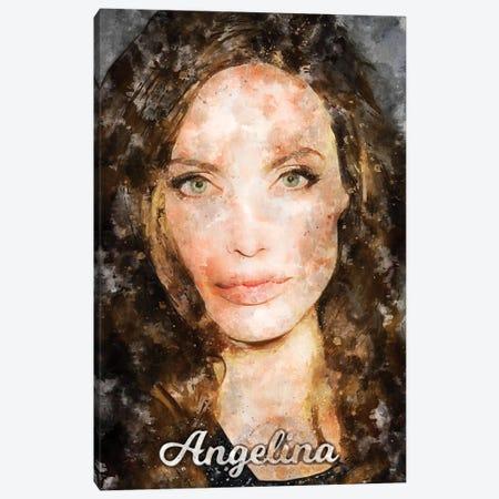 Angelina Watercolor Canvas Print #DUR874} by Durro Art Canvas Art Print