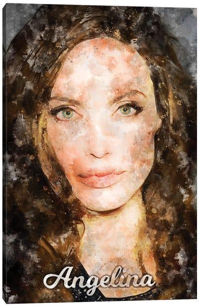 Angelina Watercolor Canvas Art Print
