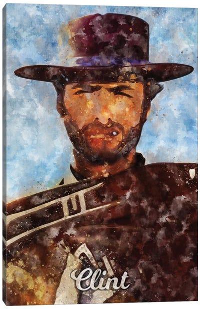Clint Ii Watercolor Canvas Art Print