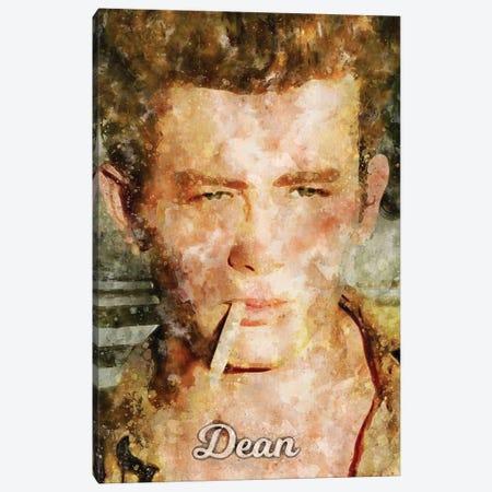 Dean Watercolor Canvas Print #DUR878} by Durro Art Canvas Artwork