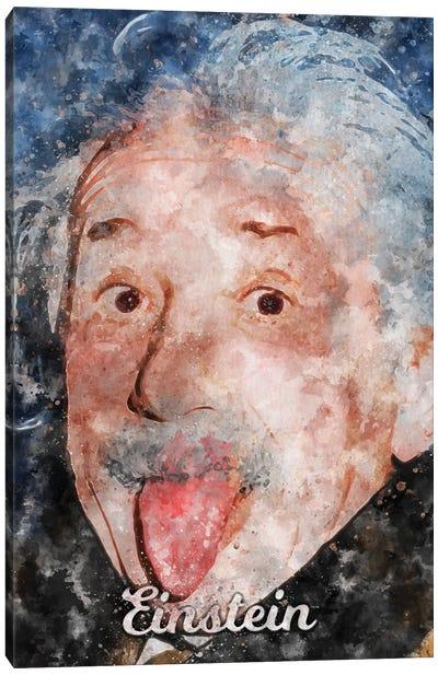 Einstein Watercolor Canvas Art Print