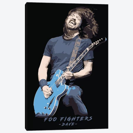 Foo Fighters Dave Canvas Print #DUR87} by Durro Art Canvas Print