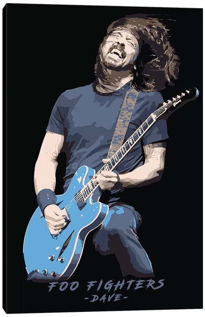 Foo Fighters Dave Canvas Art Print