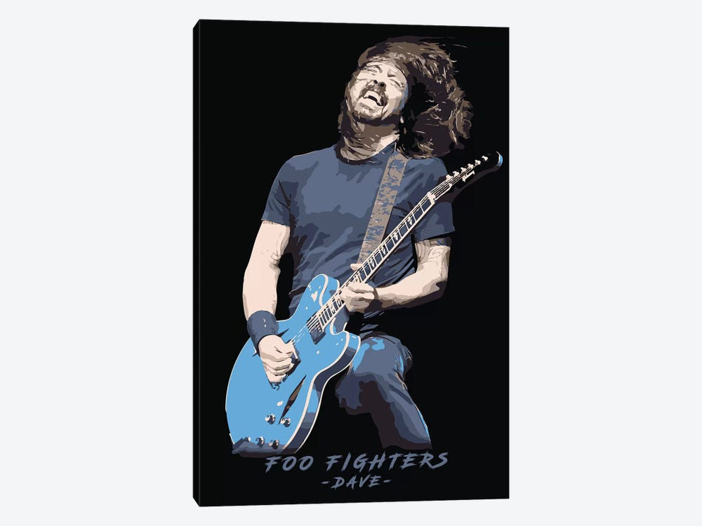 Foo Fighters Dave by Durro Art 1-piece Canvas Art