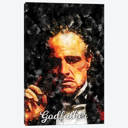 Godfather II Watercolor Canvas Print #DUR881} by Durro Art Canvas Art Print