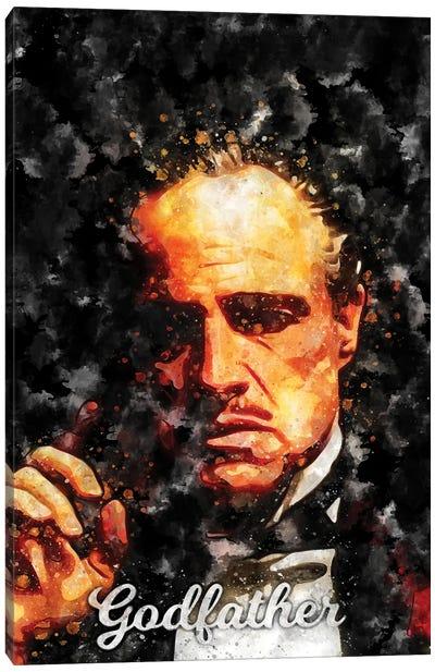 Godfather II Watercolor Canvas Art Print