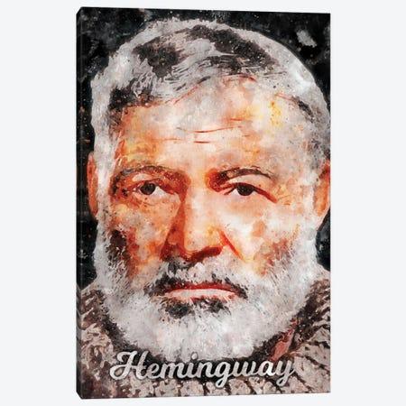 Hemingway Watercolor Canvas Print #DUR882} by Durro Art Canvas Print