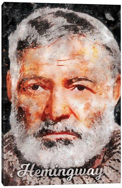 Hemingway Watercolor Canvas Art Print