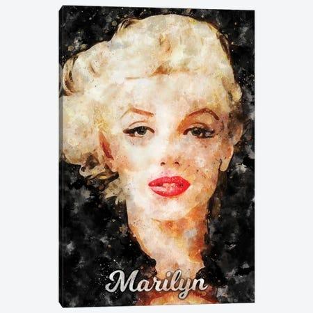 Marilyn II Watercolor Canvas Print #DUR885} by Durro Art Canvas Art