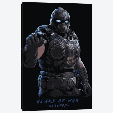 Gears Of War Clayton Canvas Print #DUR88} by Durro Art Canvas Art
