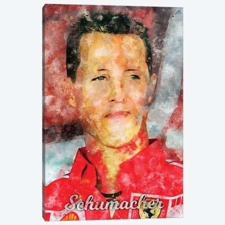 Schumacher Watercolor Canvas Print #DUR890} by Durro Art Canvas Artwork