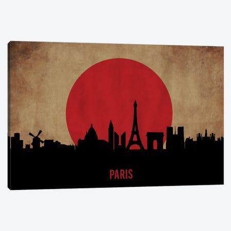 Paris Skyline Canvas Print #DUR902} by Durro Art Canvas Art