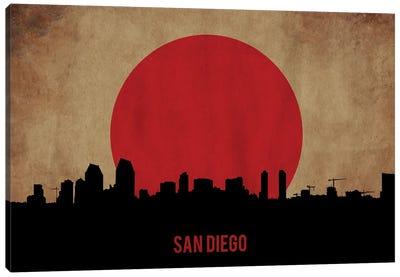San Diego Skyline Canvas Art Print