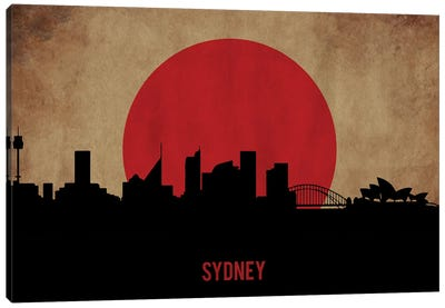 Sydney Skyline Canvas Art Print