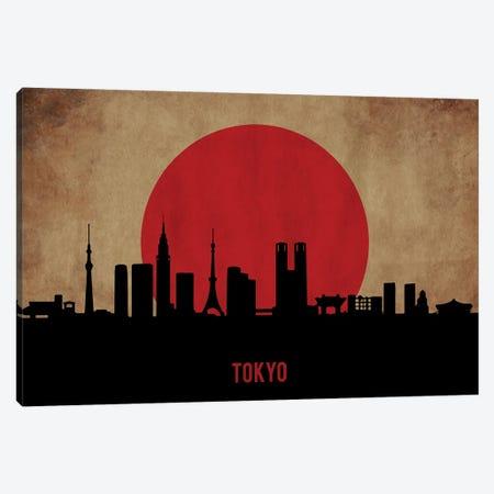 Tokyo Skyline Canvas Print #DUR906} by Durro Art Canvas Art Print
