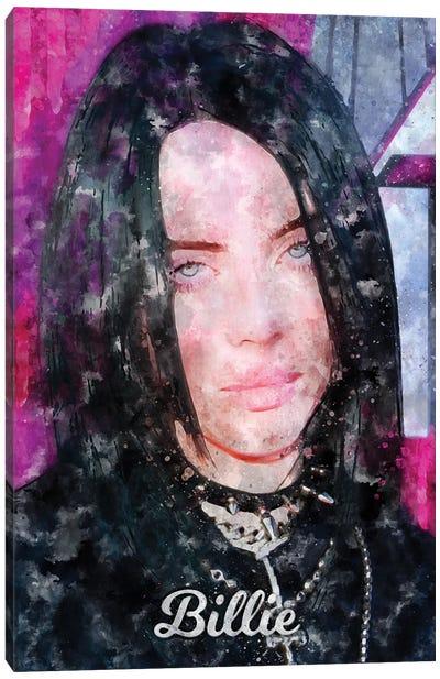 Billie Watercolor Canvas Art Print