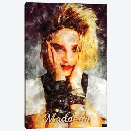 Madonna Watercolor Canvas Print #DUR909} by Durro Art Canvas Wall Art