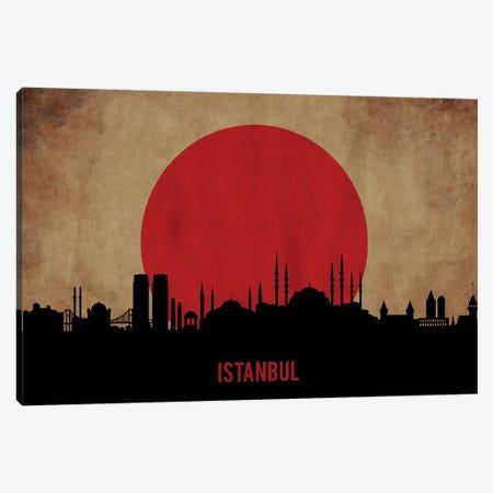 Istanbul Skyline Canvas Print #DUR917} by Durro Art Canvas Wall Art